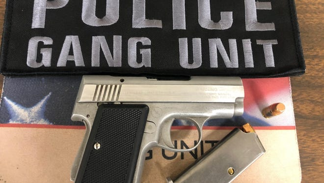The loaded gun Brockton police seized from a city man Friday afternoon.
