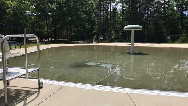The wading pool at the Freetown State Forest is full, but not yet open.