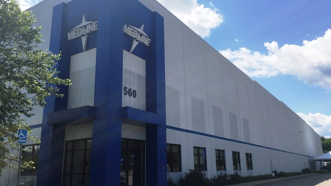 Amazon Logistics is opening a delivery station at the Medline Industries facility at 560 West St. in Mansfield.