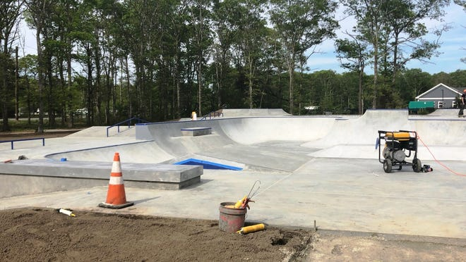 Sandwich recreation officials are awaiting the completion of work at Oakcrest Cove Park, which will include a new skate park, tennis/pickleball courts and hiking trails.    Photo by Mark Snyder