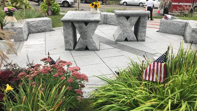 The Newton 9-11 Memorial located at 1164 Centre St.