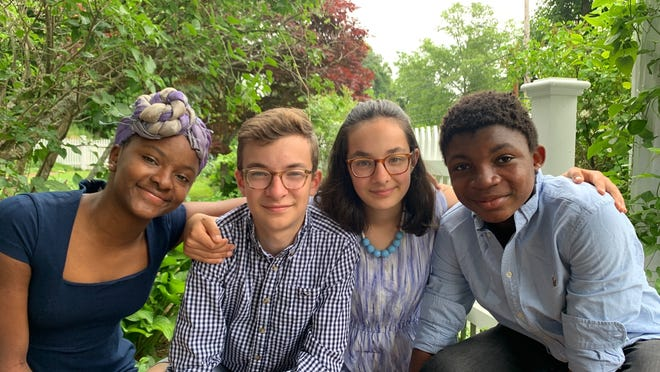 From left, Concord siblings Muji, Milo, Sophia and Joey Vader have started a website to bring awareness to issues that are important to them.