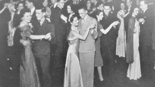 Young folks liked to dance in the 1930s. [File}