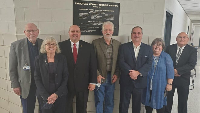 The Cheboygan County Board of Commissioners from left, John Wallace, Roberta Matelski, Ron Williams, Steve Warfield, Rich Sangster, Mary Ellen Tryban and Mike Newman, will be discussing a resolution to support county commissioners serving four year terms rather than two year terms.