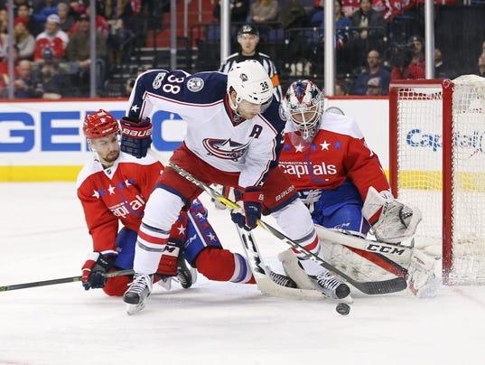USP NHL: COLUMBUS BLUE JACKETS AT WASHINGTON CAPIT S HKN USA DC