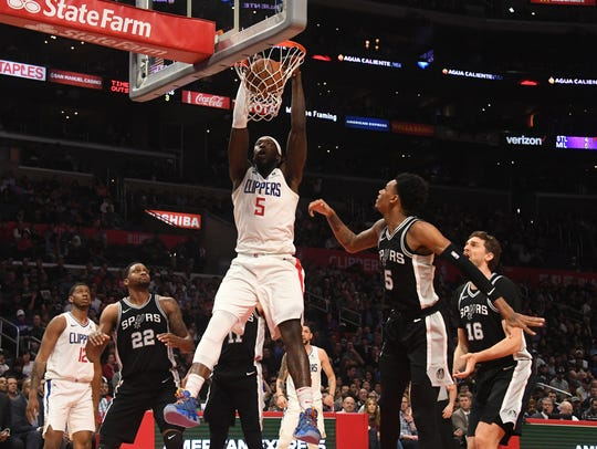 Montrezl Harrell (5) showed well when given a chance