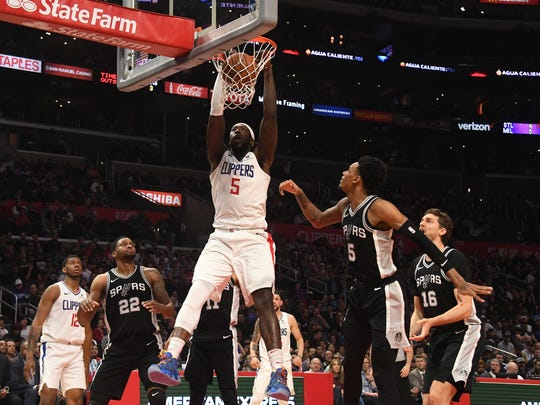 Montrezl Harrell (5) showed well when given a chance last season by the Clippers.