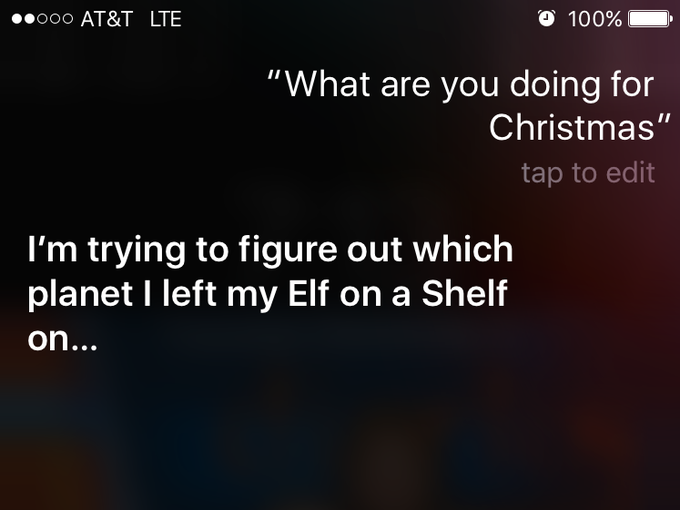 ask Siri what she's doing for Christmas — or better