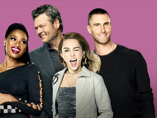 Jennifer Hudson, left, joins Blake Shelton, Miley Cyrus,