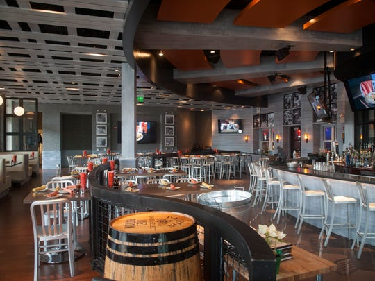 Interior of 1100 Social located at Xfinity Live! in Philadelphia is stream-lined.
