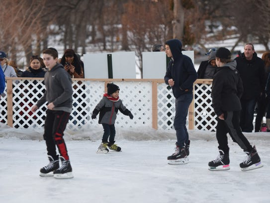 The new ice skating rink in Passaic's Third Ward Park