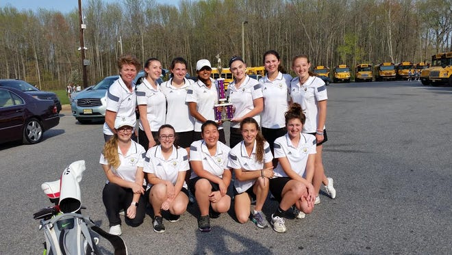 The Moorestown High School girls' golf team, which captured the title at Thursday's S.J. Invitational