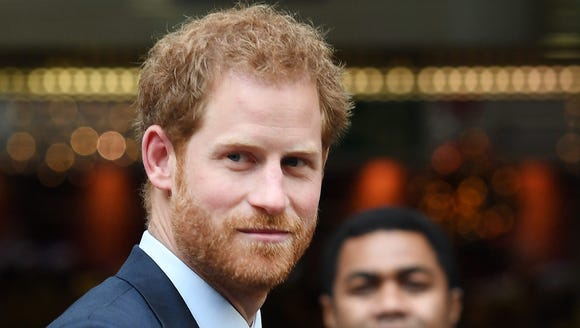 Prince Harry at trading company ICAP for charity event