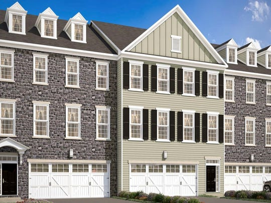 A rendering of town homes at The Overlook at Rockford