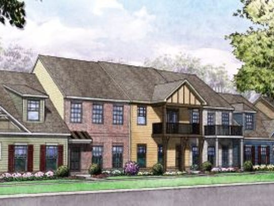 A view of the townhomes planned at the Walden Village