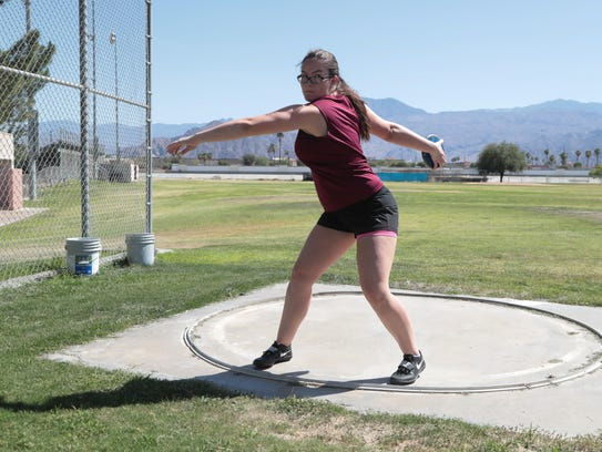 Madeline Wallace will compete in the discus for La