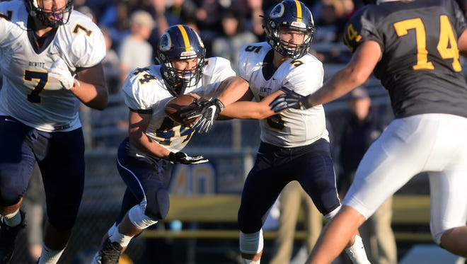 David Locher (44), Will Nagel (5) and Division 3 No. 6-ranked DeWitt hope to continue their strong play in the postseason.
