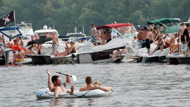 Boats at Lake of the Ozarks.