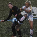 Rocky Mountain's Morgan Abbitt, right, was named first-team all-conference in the Front Range League.