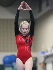 When Jana Hilditch is doing a gymnastics routine, she hones in on the task at hand.