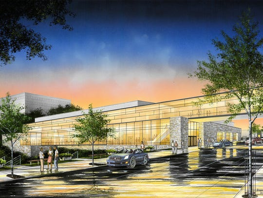 A drawing shows the proposed Fox Cities Exhibition