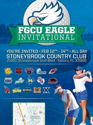 FGCU Eagle Invitational: Feb. 12-14 at Stoneybrook Gulf Club in Estero.