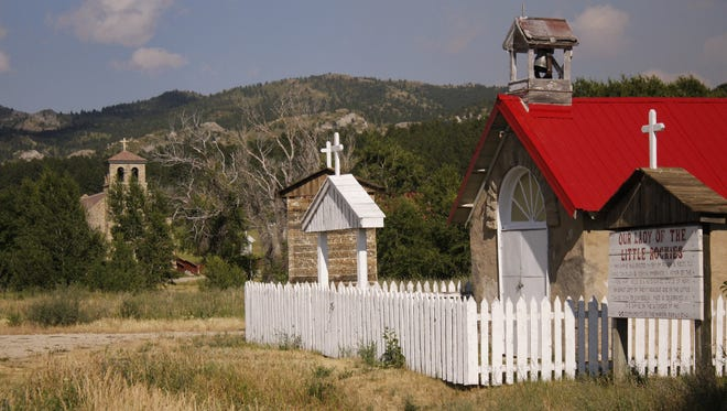 St. Paul's Mission sits at the foot of the Little Rocky Mountains in northcentral Montana.  It was originally established on the Milk River near Harlem in 1884.