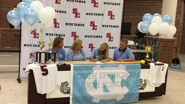 South Effingham softball star Alex Brown signs a letter of intent to play at the University of North Carolina next season.