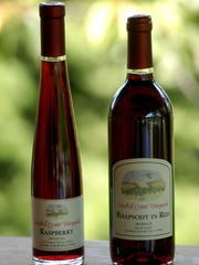 Two wines produced by Sandhill Crane Vineyards east of Jackson.