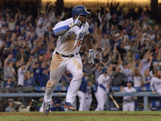 charlotteobserver.com Yasiel Puig s walk-off double lifts Dodgers past White  Sox cd65200bfcc