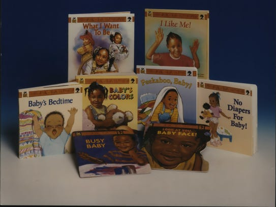 This series of books featuring  images of black children