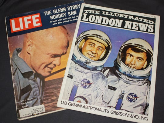 Vintage publications such as a Life magazine from 1962