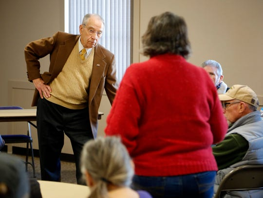 Sen. Chuck Grassley R-Iowa holds a town meeting in