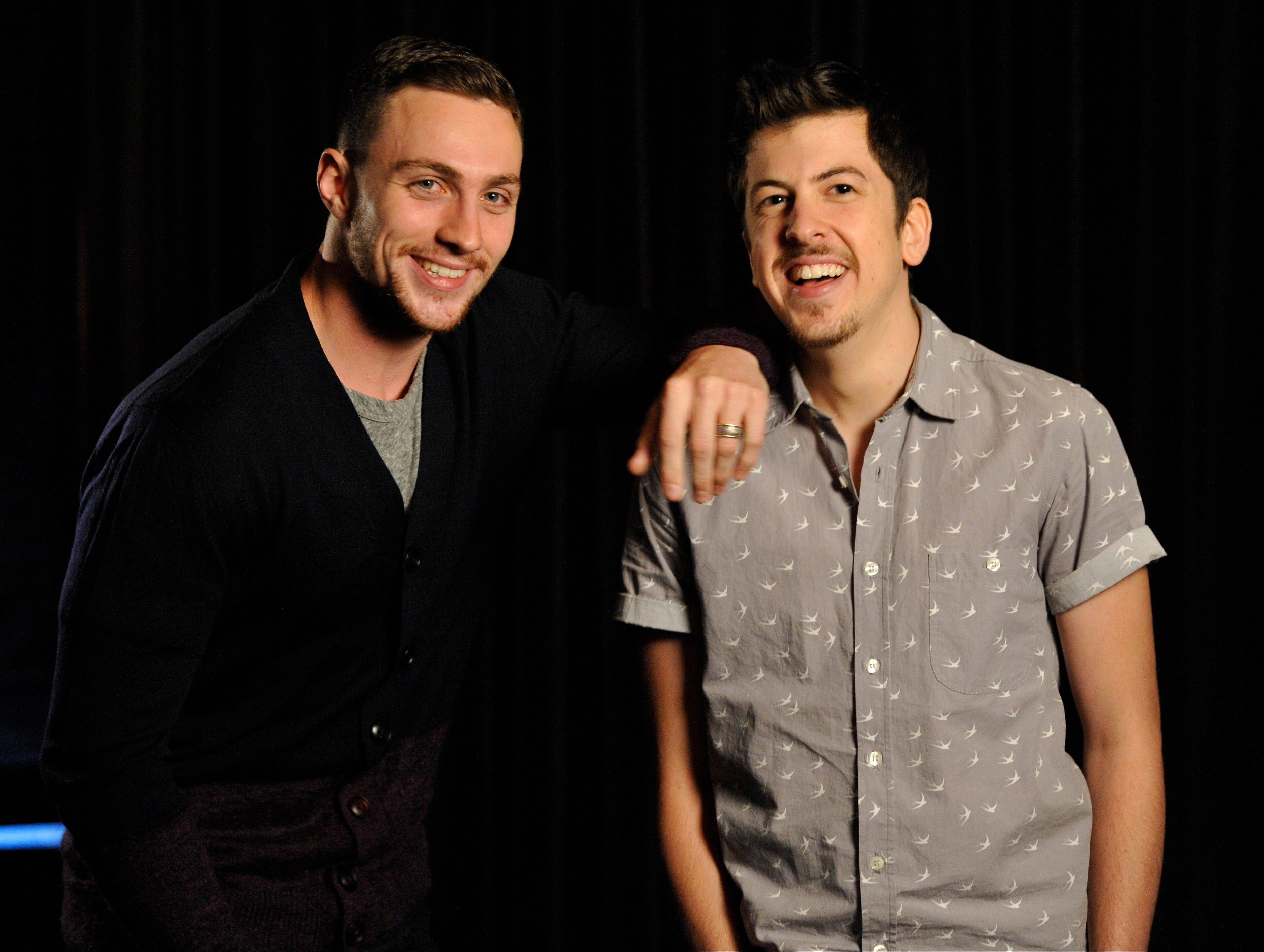 Aaron Taylor-Johnson and Christopher Mintz-Plasse