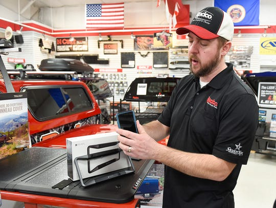 Ryan Neuman, manager of Radco Truck Accessory Center,