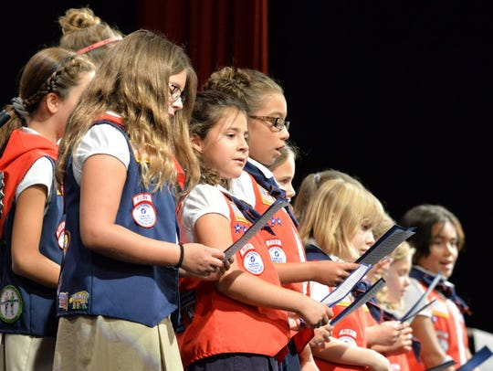 The American Heritage Girls perform at the 14th annual