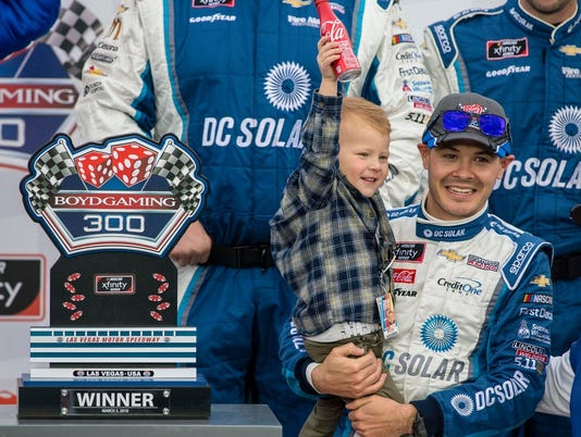 kyle-Larson-and-son