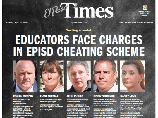 """Educators face charges in EPISD cheating scheme"""
