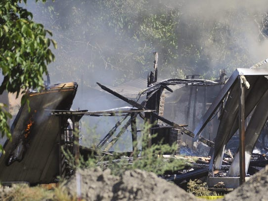 Firefighters responded to a mobile home fire just after