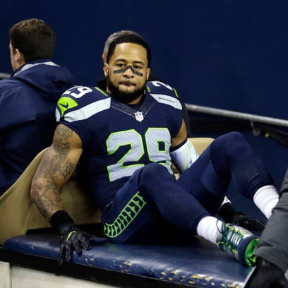 Seattle Seahawks safety Earl Thomas leaves the field