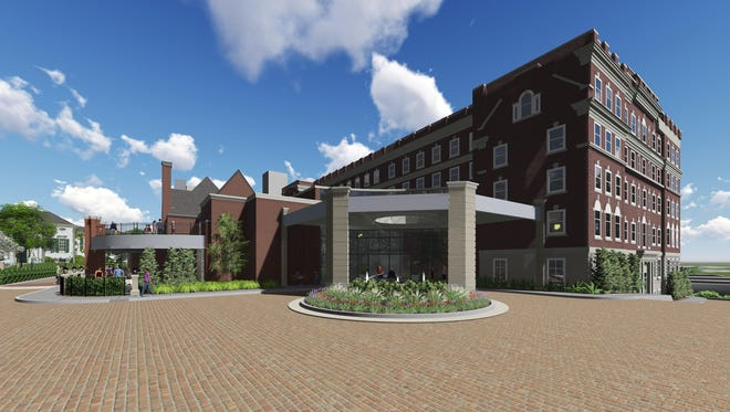 The exterior of new hotel planned on the site of the former Anna Louise Inn.