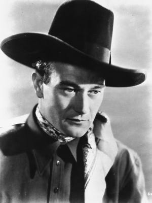 "Actor John Wayne is shown as the Ringo Kid in John Ford's 1939 film, ""Stagecoach."""