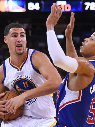 Golden State Warriors guard Klay Thompson (11) has