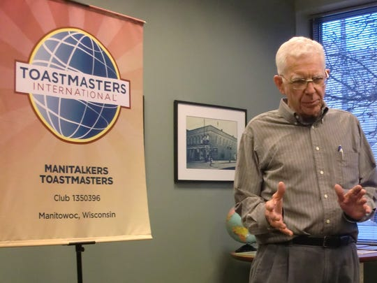 Wayne Cherney recently shared memories from his youth at the World Storytelling Day celebration at the Manitowoc Public Library.