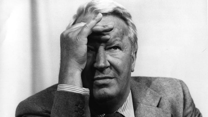 Edward Heath is pictured at the Conservative Party