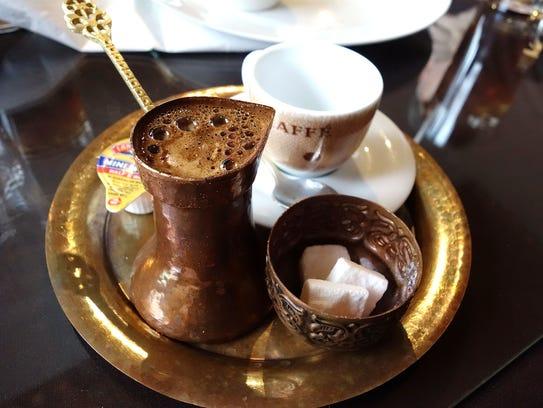 Turkish coffee at Old Town Sarajevo in Phoenix.