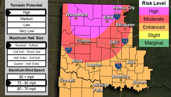 The National Weather Service in Norman, Oklahoma, has issued tornado and flood watches for Wichita Falls and the surrounding area.