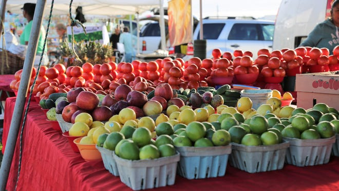 File: Fresh produce on display at the Marco Island Farmers Market.