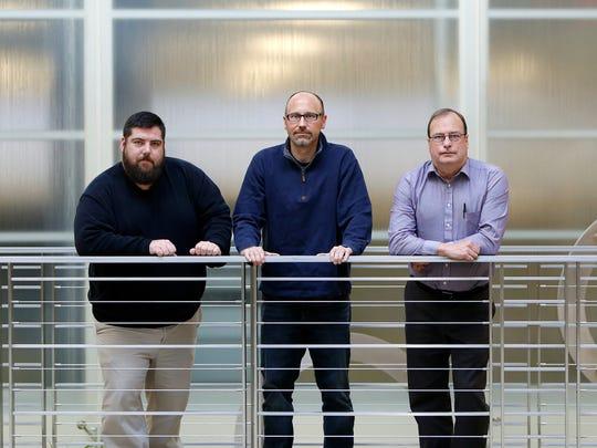 LSJ Staff Breaking News team, from left, Chris Haxel,