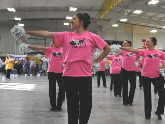 The Waupun Warriorettes Dance Team performed at Waupun's Relay for Life. LARRY DUER PHOTO